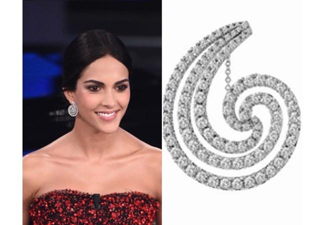 Orecchini spirale diamanti