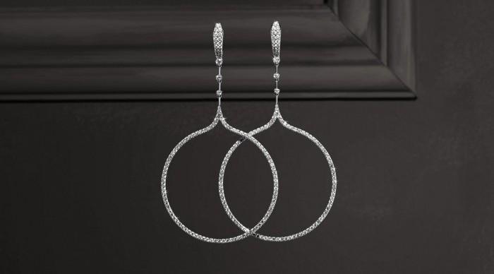 crivelli gioielli orecchini collezione glance diamanti