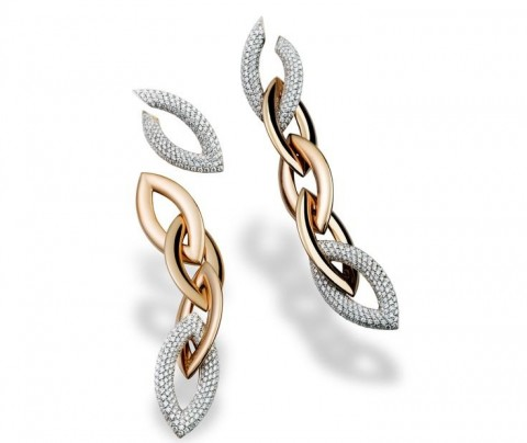 orecchini vhernier doppio senso diamanti