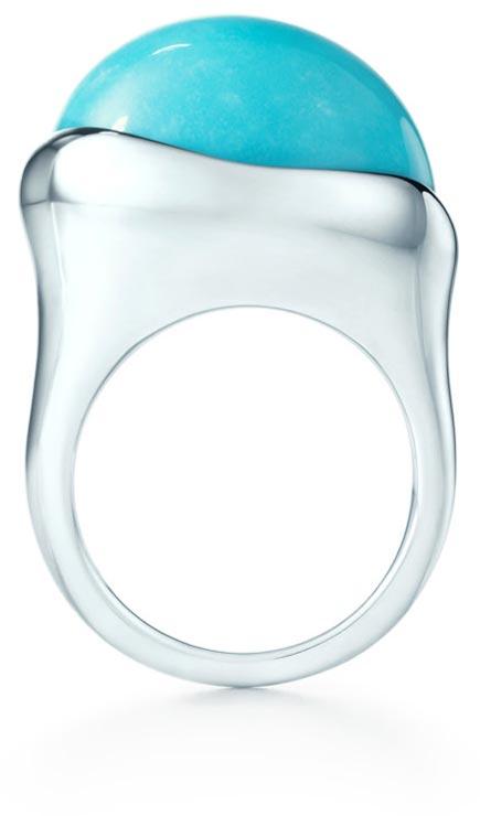 anello tiffany argento turchese cabochon