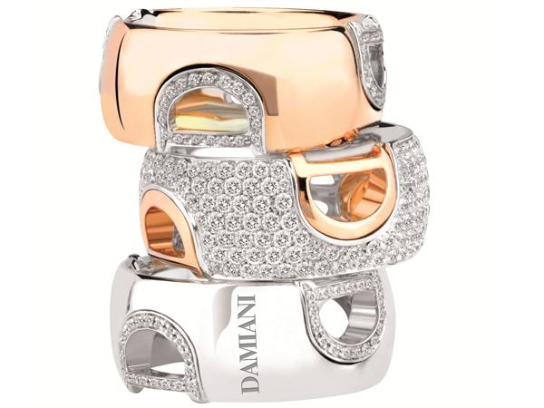 damiani anelli d icon oro pavè diamanti