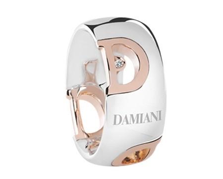 anello damiani d icon oro bianco rosa gioielli