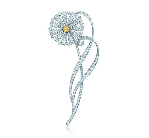 tiffany gioielli grande gatsby spilla floreale diamanti