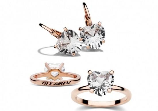 dodo gioielli anello orecchini amore oro pietre sintetiche