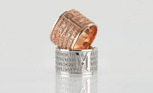 anelli tuum tuam origine preghiera gioielli sacri