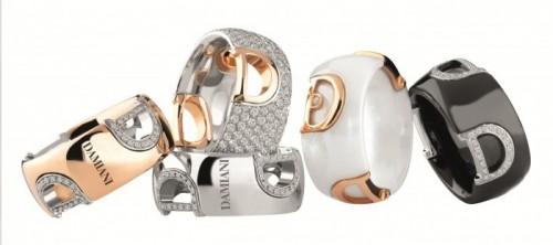 idee regalo gioiello damiani d icon anelli ceramica oro diamanti