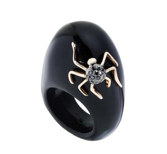 dada gioielli anello lucky spider ragno