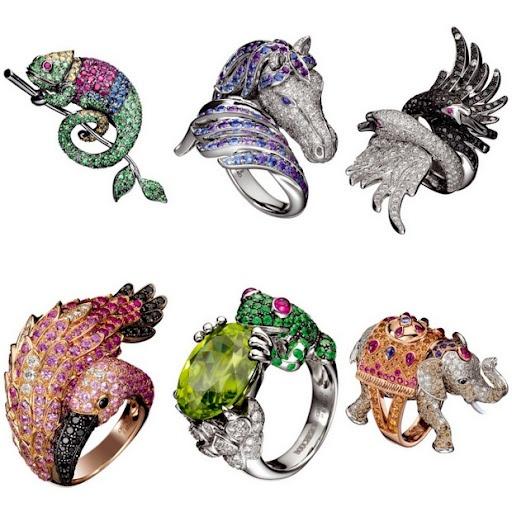trend gioielli anelli animal chopard boucheron diamanti pietre preziose