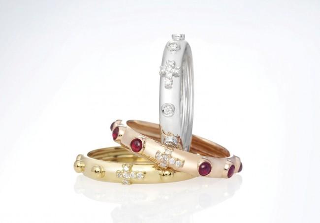 nardelli gioielli anello rosario oro diamanti zaffiri rubini