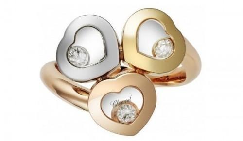 gioielli san valentino idee regalo chopard anelli happy diamonds cuori oro