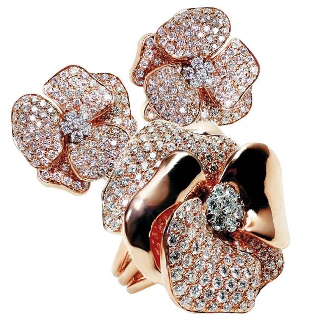 leo pizzo gioielli fiori diamanti oro