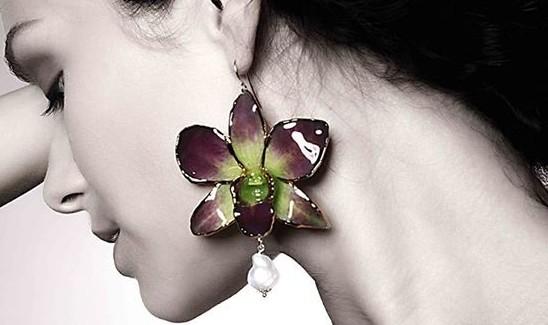 gioielli lipplus fiori orchidee orecchini franco lipparini