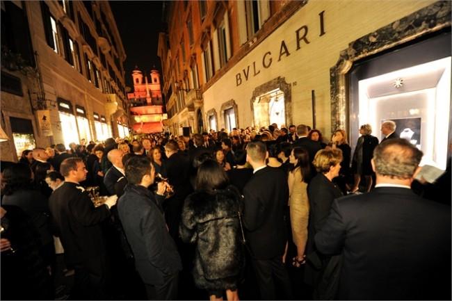 gioielli bulgari boutique roma via condotti inaugurazione 130 anniversario