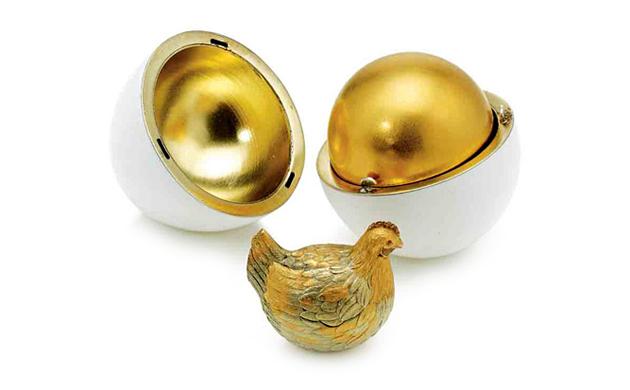 faberge primo uovo imperiale gallina smalto oro