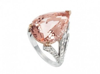 gioielli con morganite anello boucheron diamanti