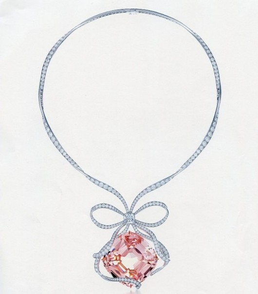 gioielli con morganite collier tiffany anniversario diamanti