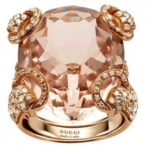 gioielli morganite anello gucci horsebit diamanti oro