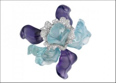 gioielli con acquamarina spilla cartier ametista diamanti