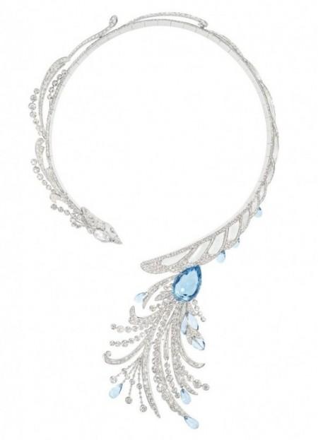 gioielli con acquamarina collana boucheron diamanti hotel de lumiere