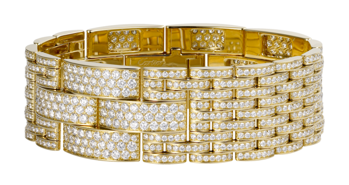 gioielli cartier david donatello kasia smutniak bracciale maillon panthere oro diamanti