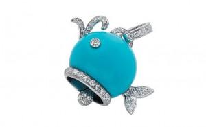 gioielli estivi marini chantecler balena ciondolo turchese diamanti oro