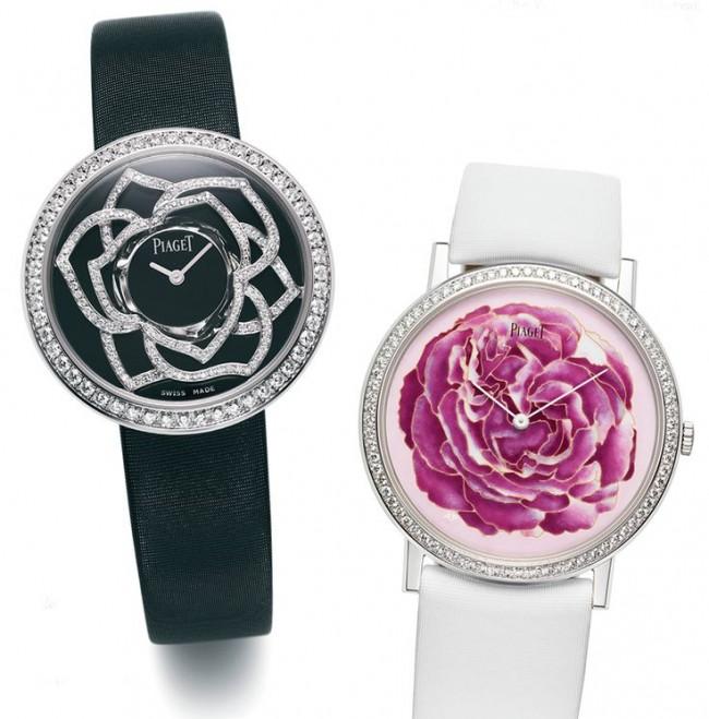 gioielli floreali piaget orologi fiori diamanti
