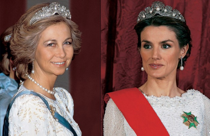 gioielli reali di spagna diadema de la chata diamanti regina letizia