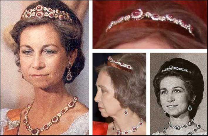 gioielli reali di spagna tiara narchios diamanti rubini letizia regina
