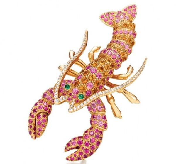 gioielli estivi marini tiffany spilla aragosta oro