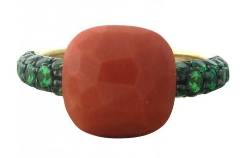 gioielli corallo anello capri Pomellato