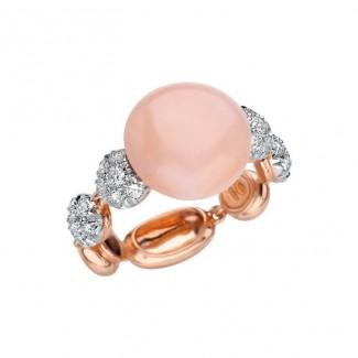 gioielli con corallo anello chantecler pelle angelo diamanti