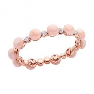 gioielli con corallo bracciale rigido chantecler pelle angelo diamanti