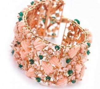 gioielli con corallo maxi bracciale