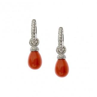gioielli con corallo orecchini chantecler joyful diamanti corallo rosso