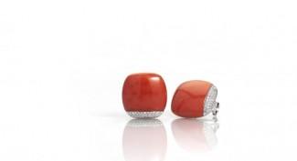 gioielli con corallo orecchini torre del greco diamanti