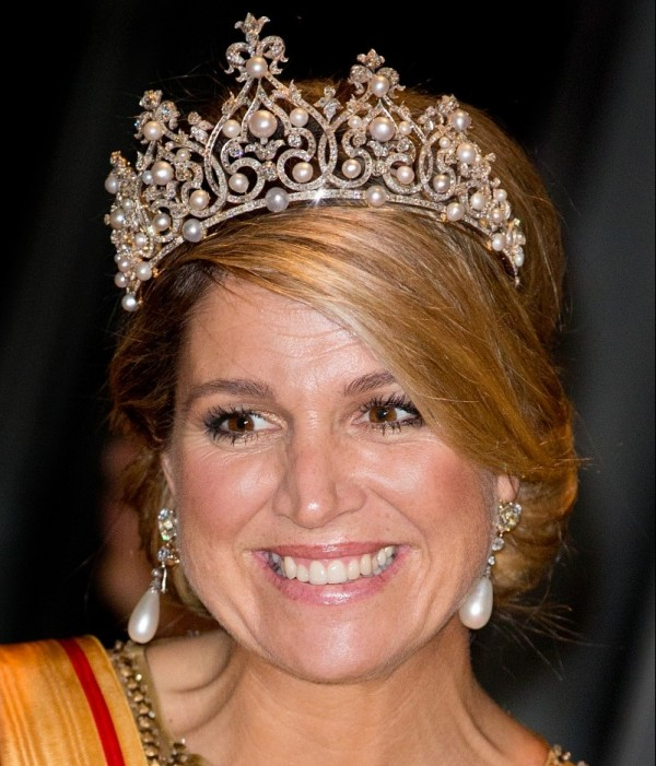 gioielli reali olandesi tiara wurttemberg diamanti perle regina olanda Maxima