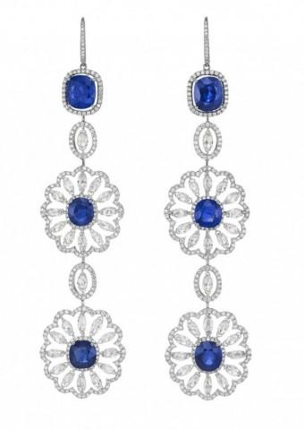 gioielli con zaffiri chopard orecchini pendenti diamanti