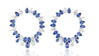 gioielli con zaffiri chopard orecchini cerchio diamanti