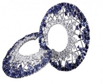 gioielli con zaffiri crivelli gioielli orecchini spirale diamanti