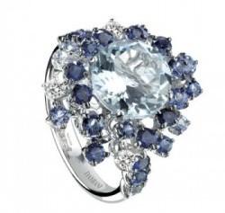 gioielli con zaffiri damiani anello anima diamanti acquamarina