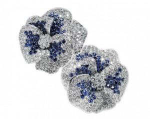 gioielli con zaffiri leo pizzo gioielli orecchini fiori diamanti
