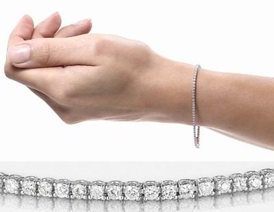 bracciale tennis diamanti oro gioielli