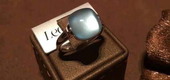 idee regalo gioielli anello leo pizzo oro topazio azzurro