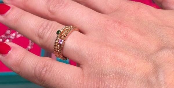 idee regalo gioielli natale recarlo anello fresh twist argento pietre colorate