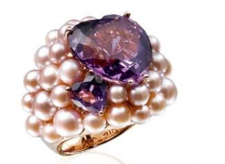 gioielli con ametista-anello-con-perle-rosa