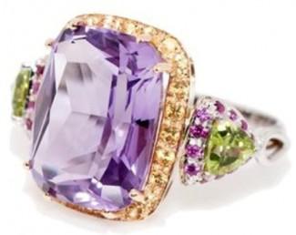 gioielli con ametista-anello-diamanti-gialli-peridoto