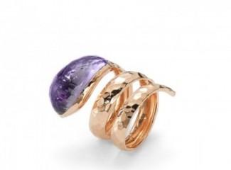 gioielli con ametista-anello-martellato-roberto-coin