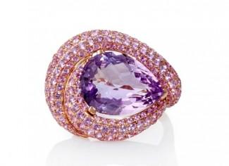 gioielli con ametista-anello-zaffiri-rosa-oro-rosa