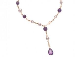 gioielli con ametista-collana-con-perle-Mimì