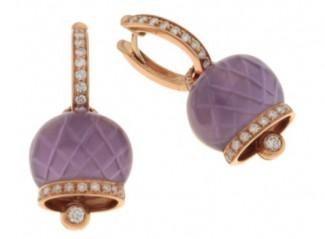 gioielli con ametista-orecchini-chantecler-campanelle